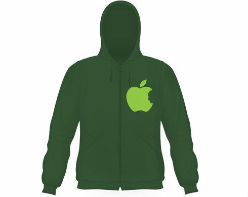Pánská mikina na zip s kapucí Apple Jobs
