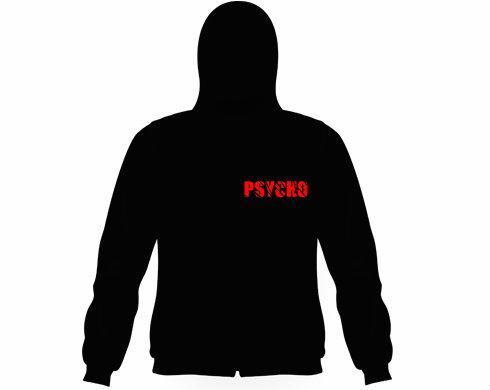 Pánská mikina na zip s kapucí Psycho