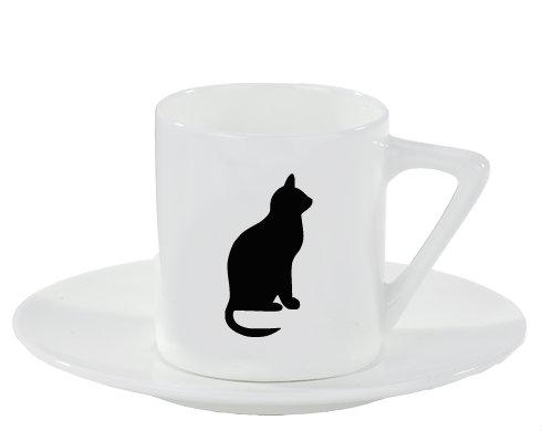 Espresso hrnek s podšálkem Kočka - Shean