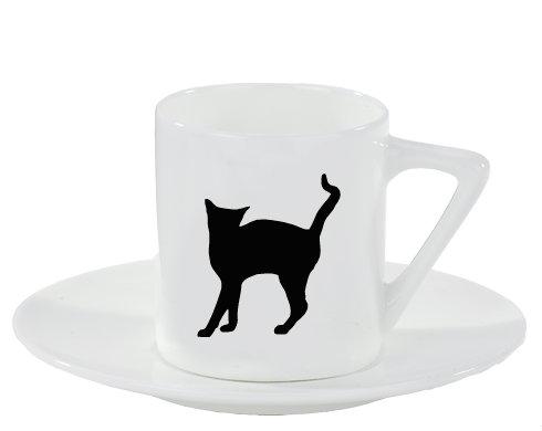Espresso hrnek s podšálkem Kočka - Líza