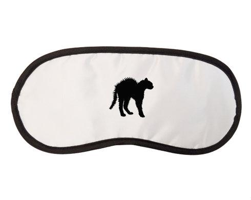 Maska na spaní - škraboška Vyděšená kočka