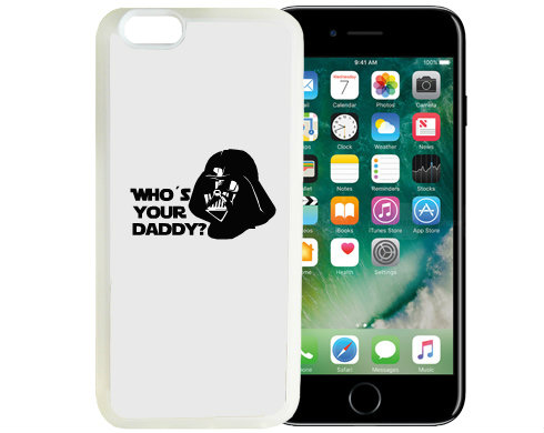 iPhone 7/8 kryt gumový soft Who is your daddy