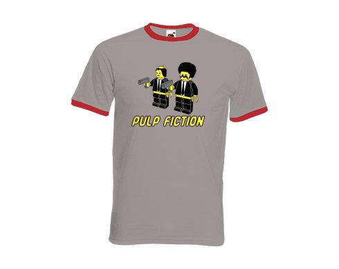 Pánské tričko s kontrastními lemy Pulp Fiction Lego