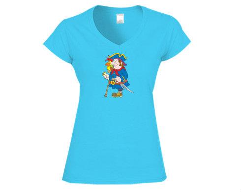 Dámské tričko V-výstřih Pirát