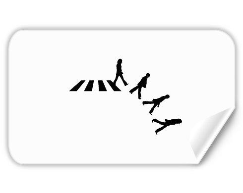 Samolepky obdelník - 5 kusů Abbey road