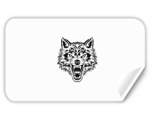 Samolepky obdelník - 5 kusů Vlk