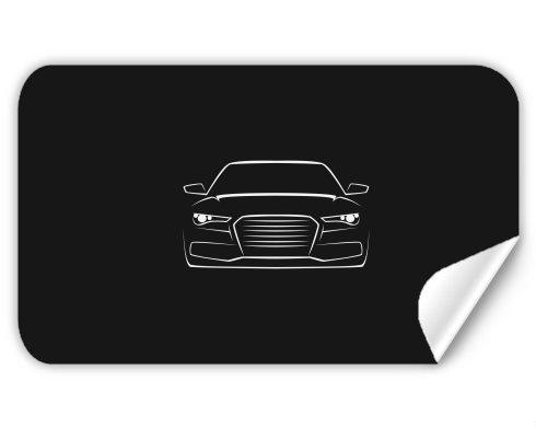 Samolepky obdelník - 5 kusů Silueta auta