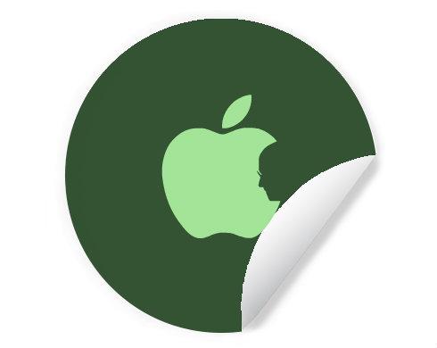 Samolepky kruh - 5 kusů Apple Jobs