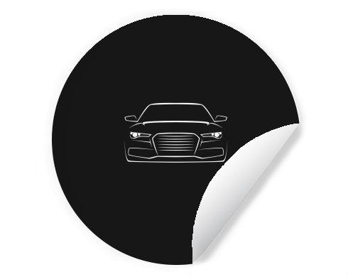 Samolepky kruh - 5 kusů Silueta auta