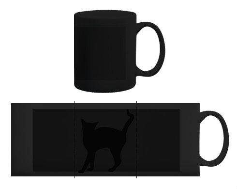 Černý hrnek Kočka - Líza