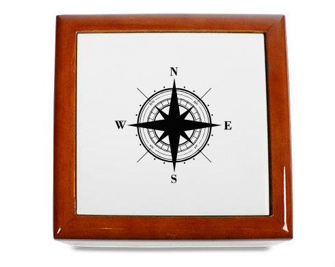 Dřevěná krabička Kompas