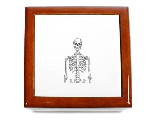 Dřevěná krabička Skeleton