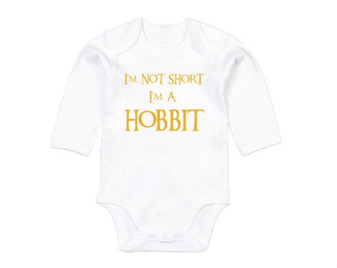 Dětské body dlouhý rukáv BIO I'm Hobbit