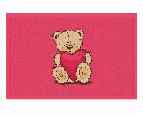 Rohožka Medvídek srdce