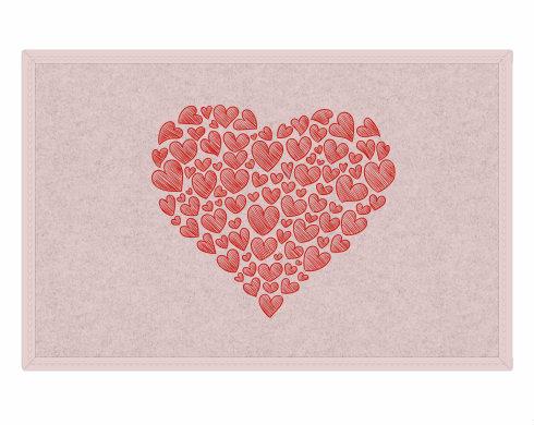Rohožka Zamilované srdce