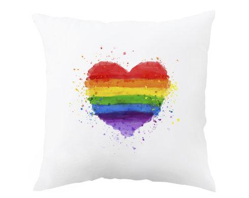Polštář Rainbow heart