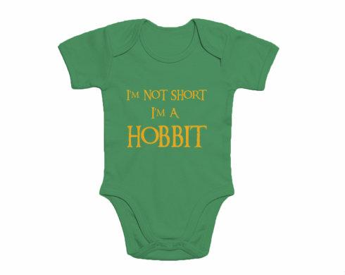 Dětské body krátký rukáv premium I'm Hobbit