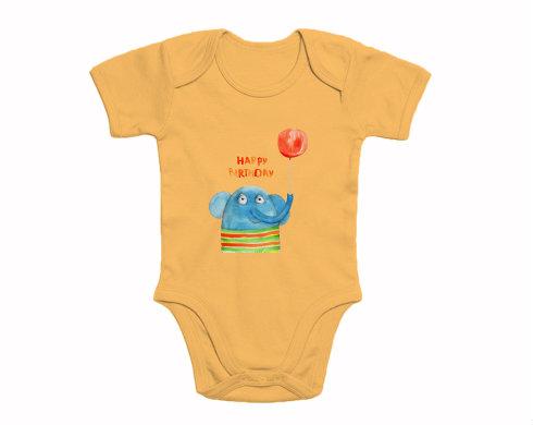 Dětské body krátký rukáv premium Happy Birthday