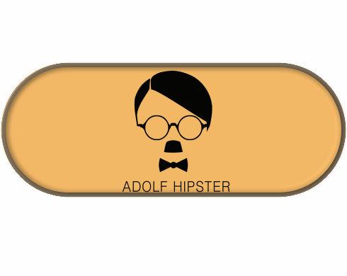 Penál Adolf hipster