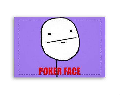 Fotoplátno 60x40 cm malé Poker face