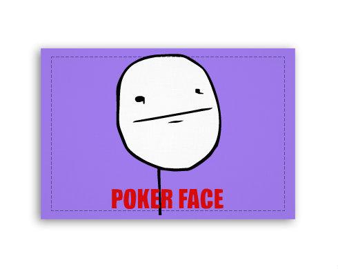 Fotoplátno 90x60 cm střední Poker face