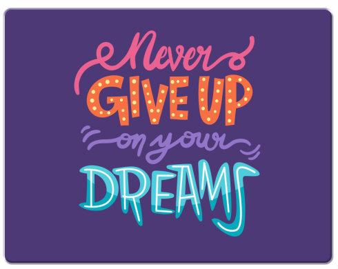 Podložka pod myš Never give up