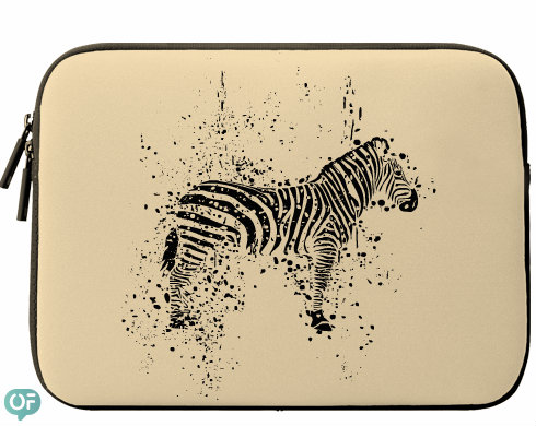 Neoprenový obal na notebook Zebra