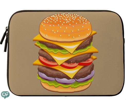 Neoprenový obal na notebook Hamburger