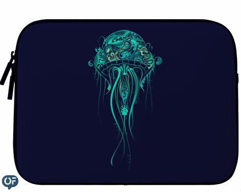 Neoprenový obal na notebook medúza