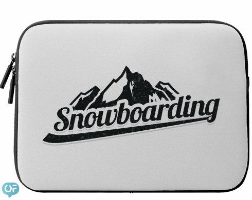 Neoprenový obal na notebook Snowboarding