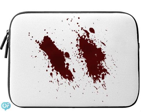 Neoprenový obal na notebook Krev