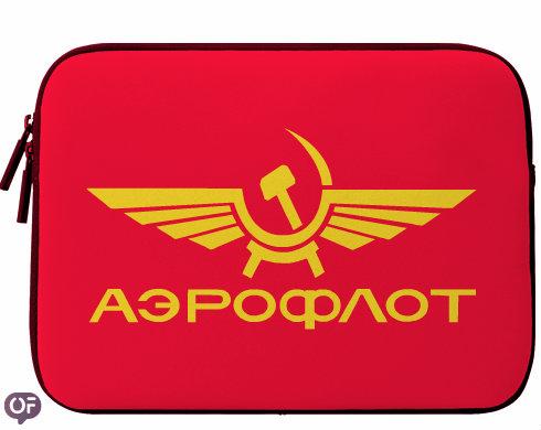 Neoprenový obal na notebook Aeroflot