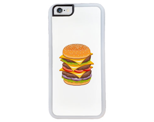 Obal na iPhone 6 gumový Hamburger