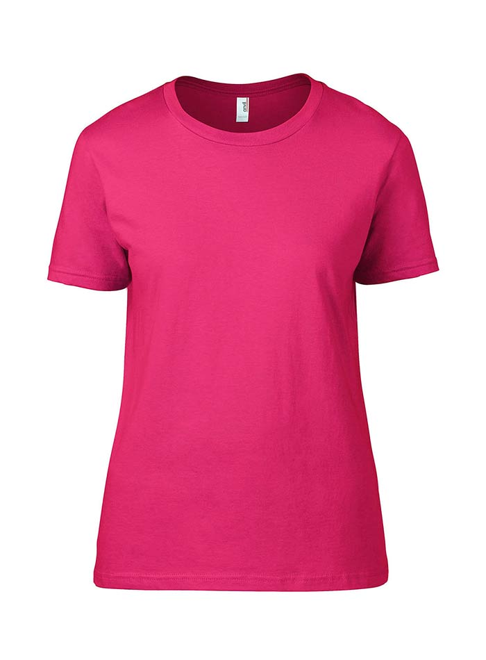 Přiléhavé tričko Fashion - Neonově růžová S