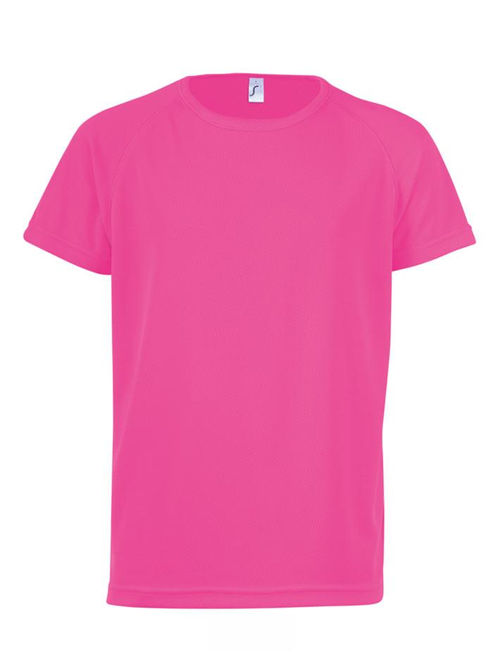 Neonové sportovní tričko - Neonově růžová 12-14