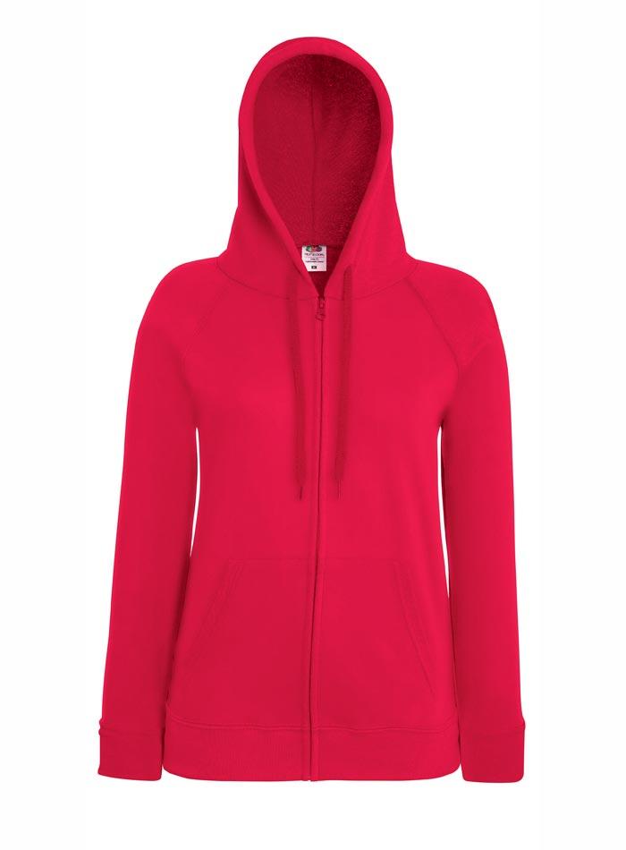 Mikina s kapucí na zip - Červená S
