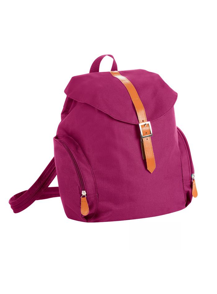 Malý retro ruksak - Tmavě růžová univerzal