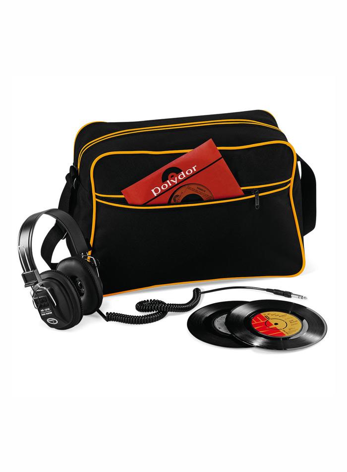 Retro taška přes rameno - Černá a žlutá univerzal