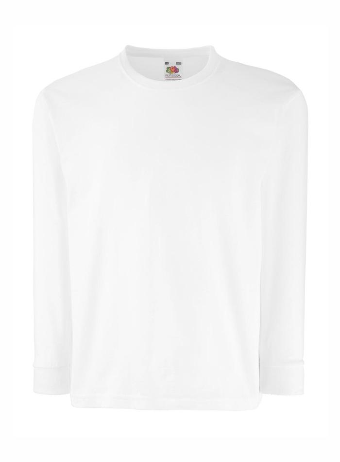 Tričko s dlouhým rukávem - Bílá 152 (12-13)