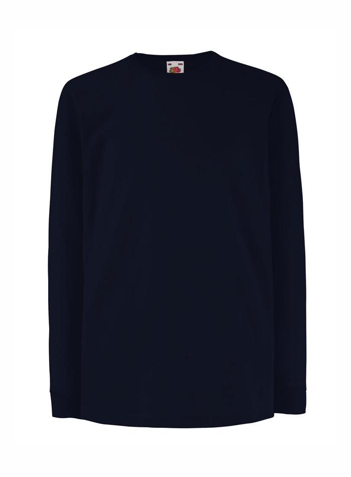 Tričko s dlouhým rukávem - Temně modrá 152 (12-13)