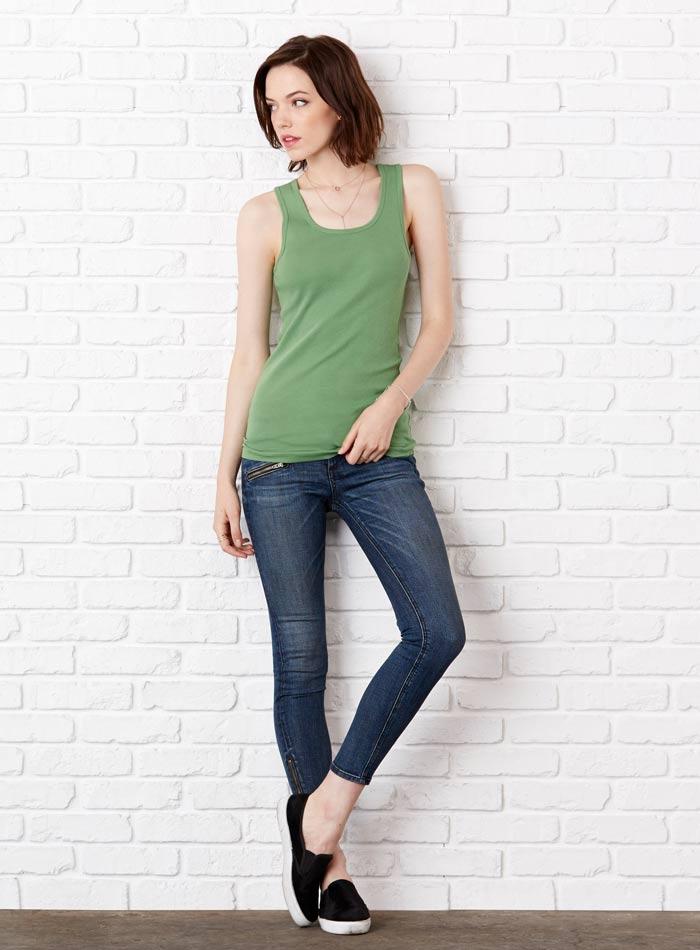 Klasické bavlněné tílko - Zelená S