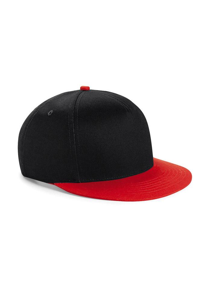 Dvoubarevná unisex kšiltovka - Černá a červená univerzal