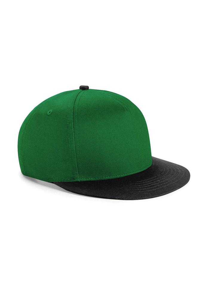Dvoubarevná unisex kšiltovka - Zelená a černá univerzal