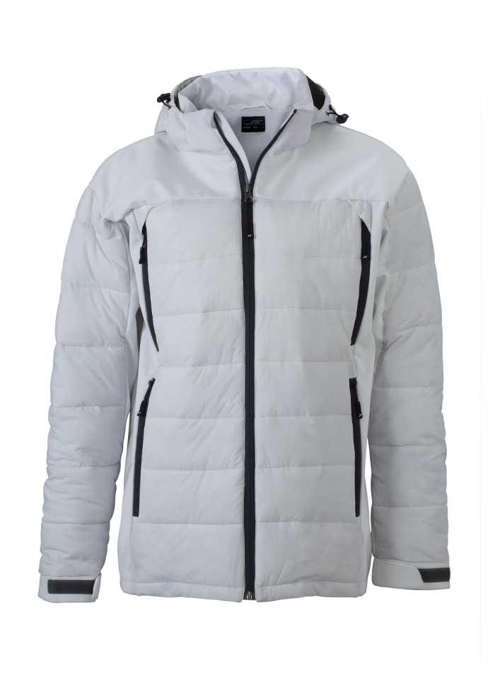 Pánská zimní bunda Hybrid - Bílá S