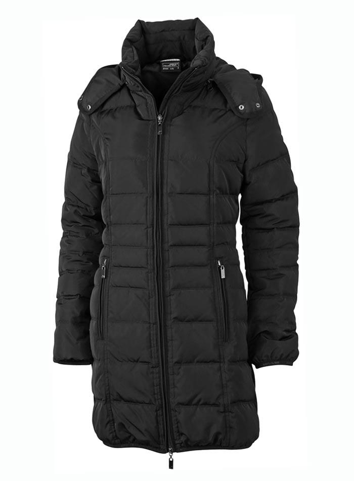 Prošívaný kabát - Černá S