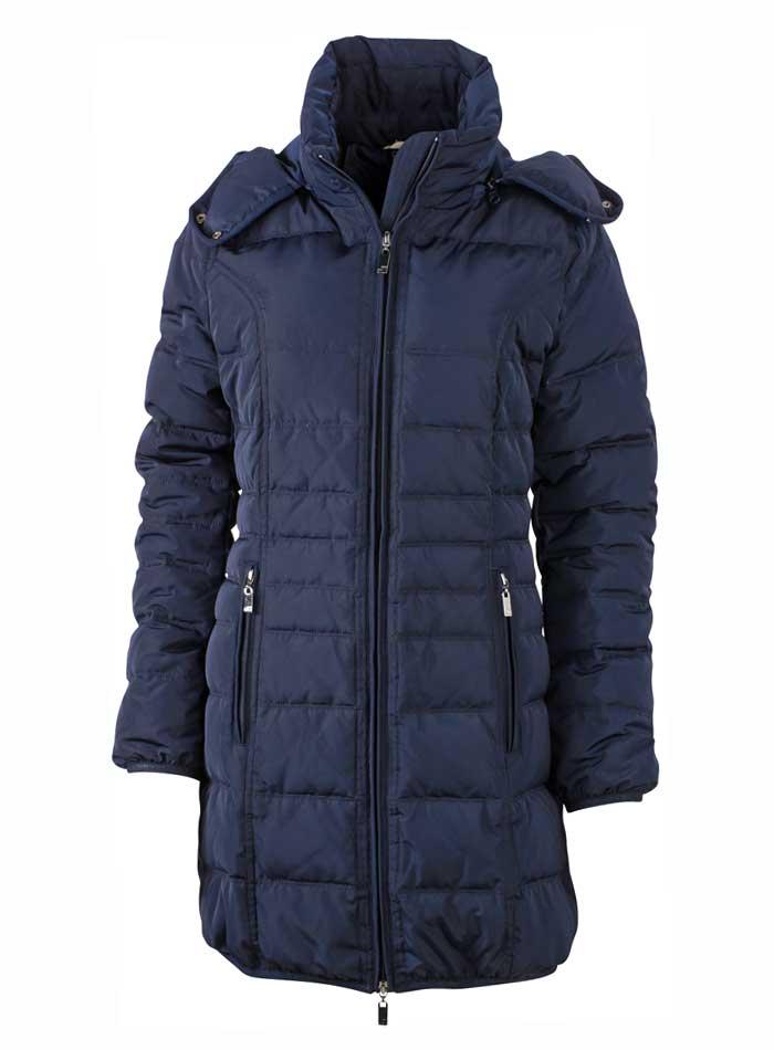 Prošívaný kabát - Námořní modrá S