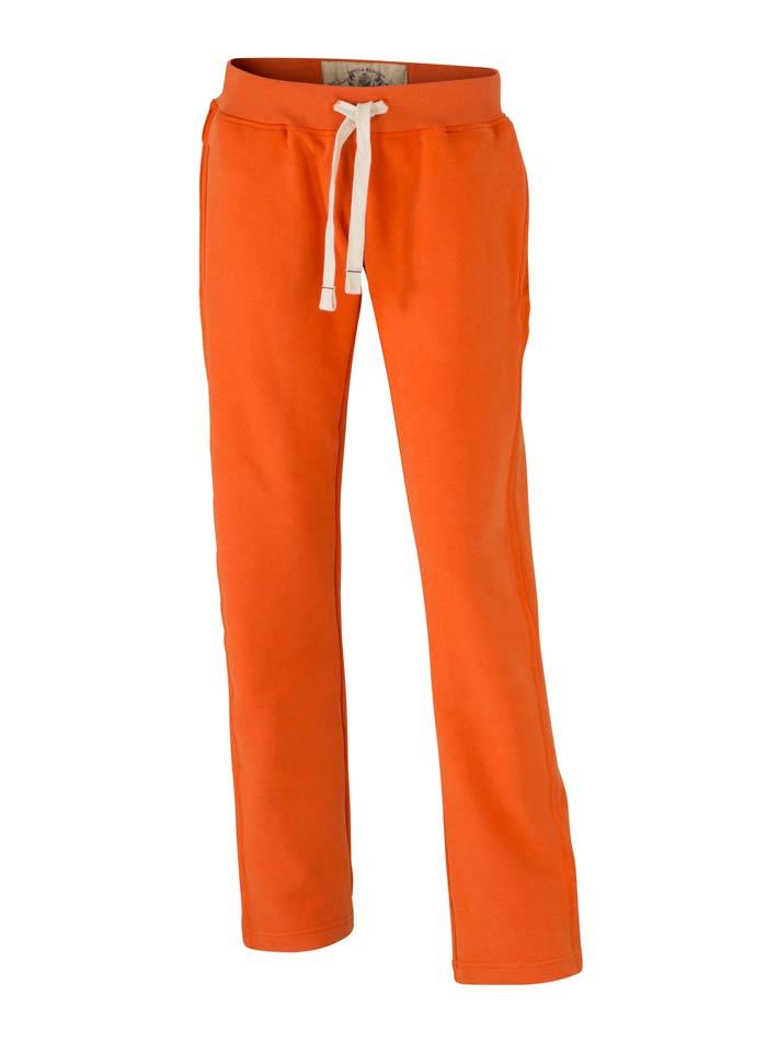 Dámské sportovní tepláky - Oranžová XS