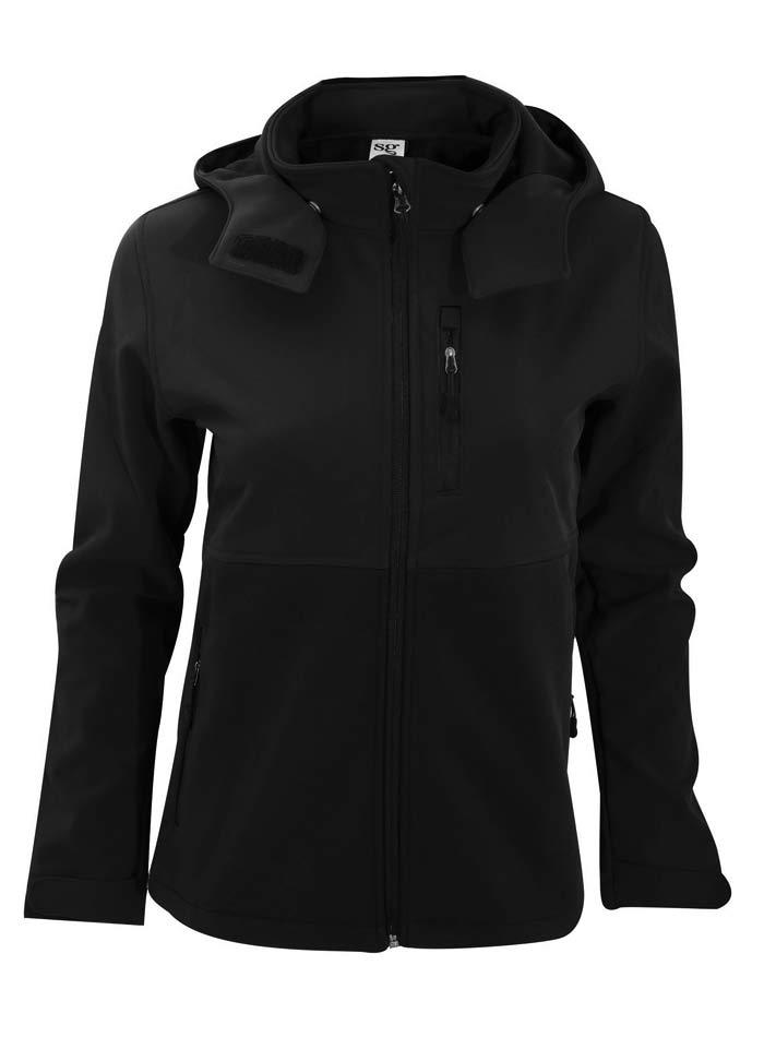 Dámská softshell bunda s kapucí - Černá S