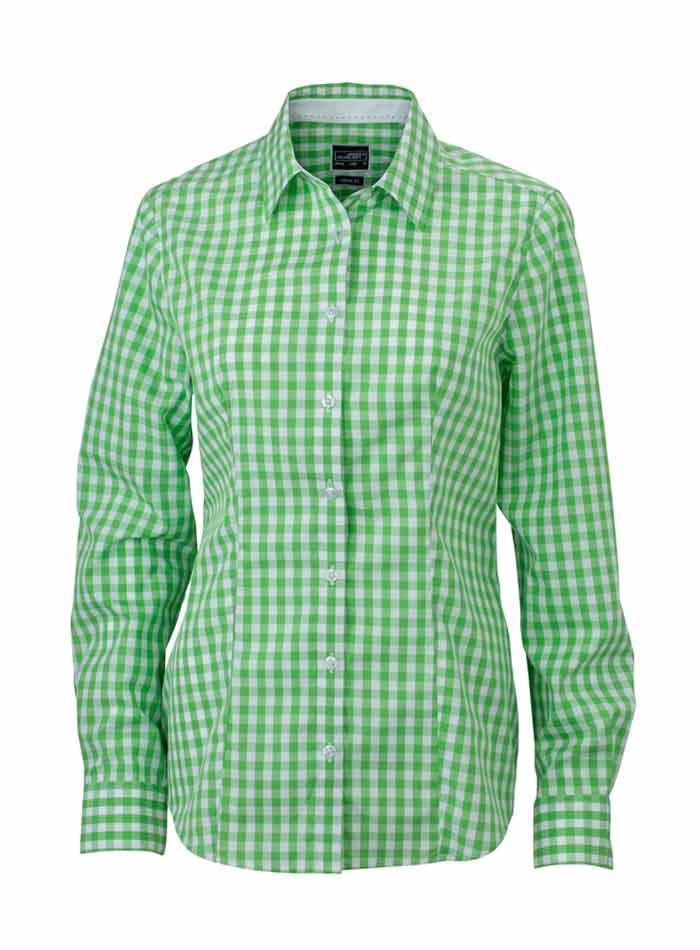 Dámská kostkovaná košile - Zelená XXL