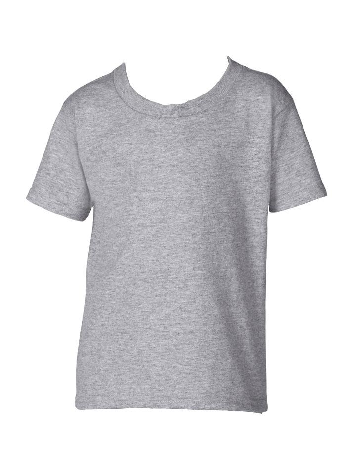 Dětské tričko Gildan - Šedý melír 2T (92)
